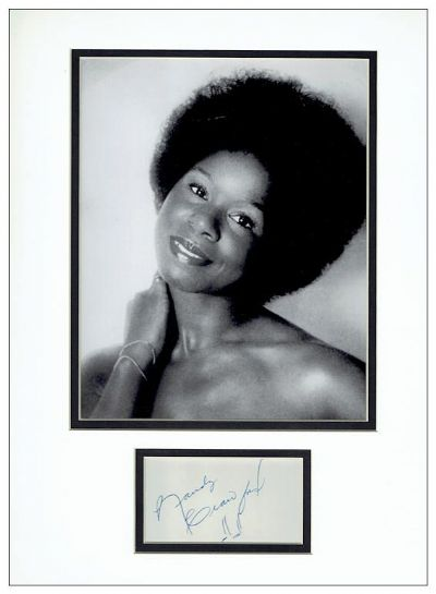 Randy Crawford Autograph Signed Display